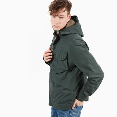 Mount+Clay+Raincoat+for+Men+in+Dark+Green