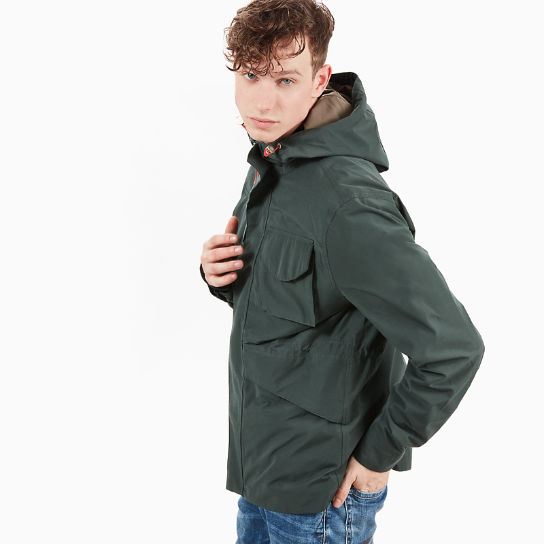 Mount Clay Raincoat for Men in Dark Green | Timberland