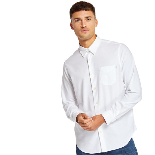 Gale River Oxford Shirt for Men in White | Timberland