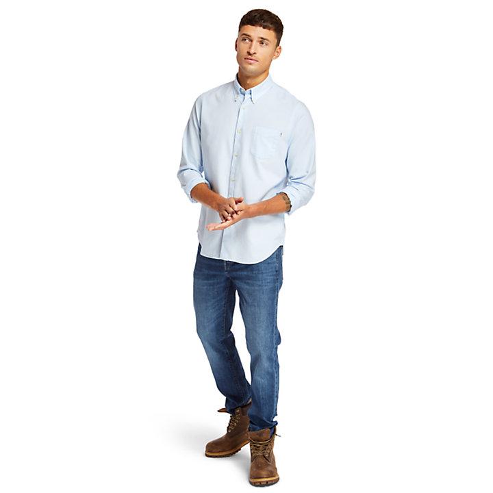 Camicia Oxford da Uomo Gale River in blu-