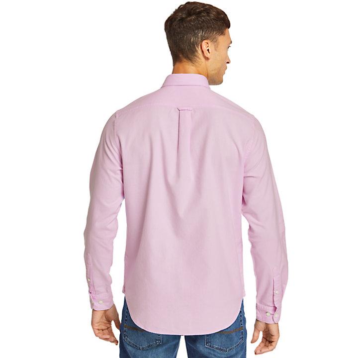 Chemise oxford Gale River pour homme en rose-