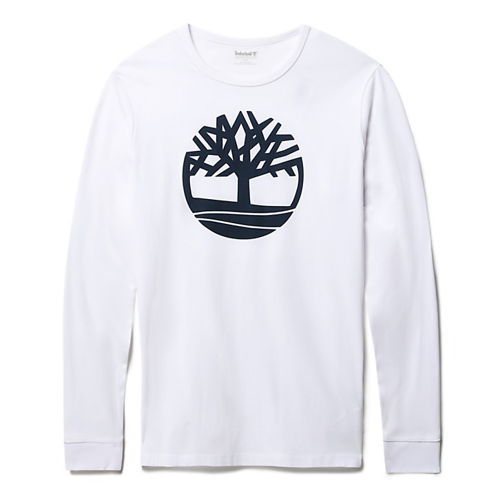 Camiseta de Manga Larga para Hombre en Blanco-