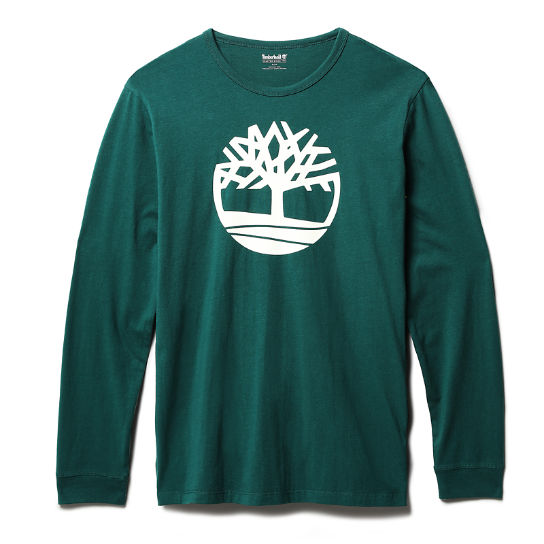 Long-Sleeved  T-Shirt for Men in Green | Timberland