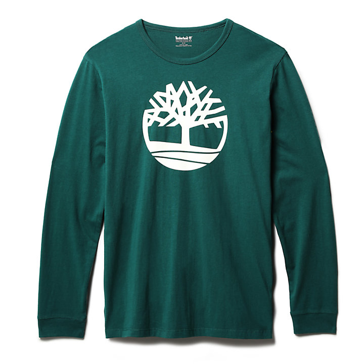 Long-Sleeved  T-Shirt for Men in Green-