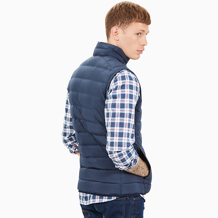Bear Head Vest for Men in Navy-