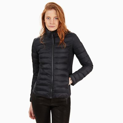 Lightweight+Quilted+Jack+voor+Dames+in+Zwart