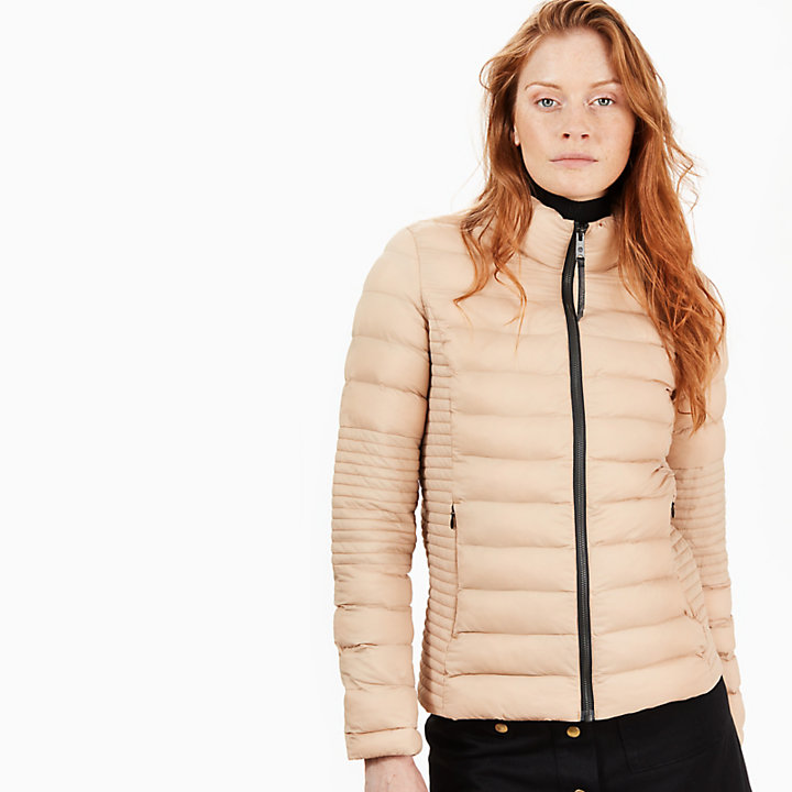 Lightweight Quilted Jacket for Women in Taupe-