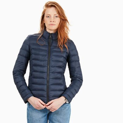 Lightweight+Quilted+Jack+voor+Dames+in+Marineblauw
