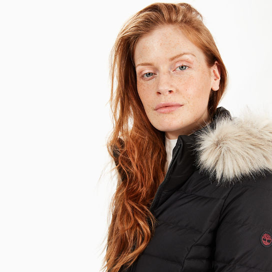 Short Goose Down Parka Jacket for Women in Black | Timberland