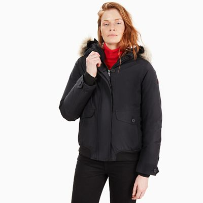 Scar+Ridge+Short+Parka+for+Women+in+Black