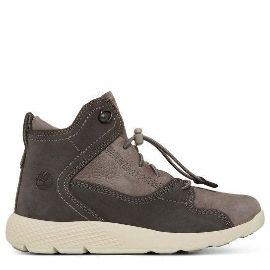 Flyroam Leather Hiker Boot para Jovem Cinzento ardósia | Timberland