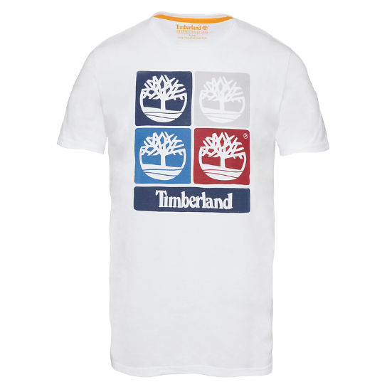 Men's Vintage Inspired Print T-Shirt White | Timberland