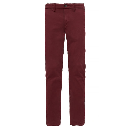 Squam Lake Stretch Chino Heren Dieprood | Timberland