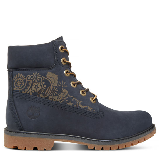 6-inch Boot Azul Marino Floral Mujer | Timberland