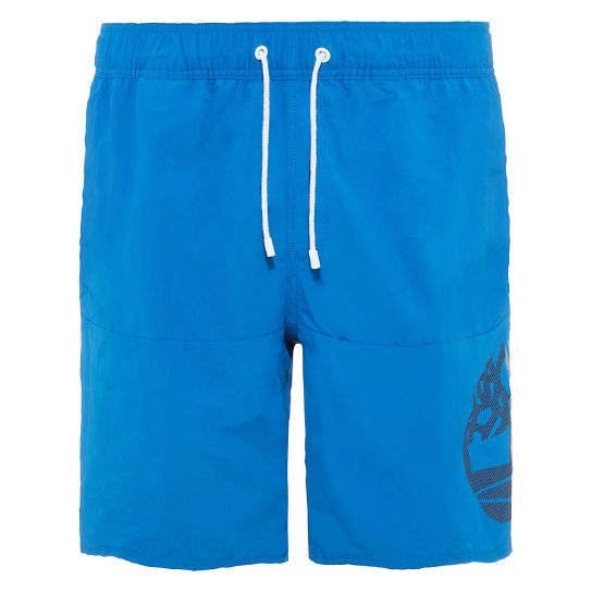 Men's Sunapee Lake Logo Swim Shorts Blue | Timberland
