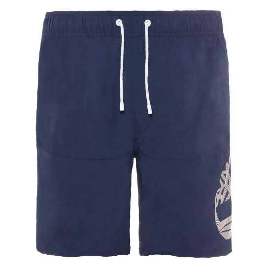 Men's Sunapee Lake Logo Swim Shorts Navy | Timberland