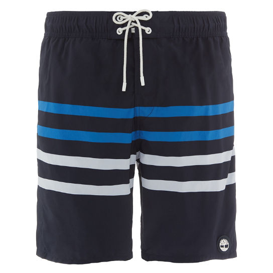 Sunapee Lake Stripe Swim Shorts Navy Heren | Timberland
