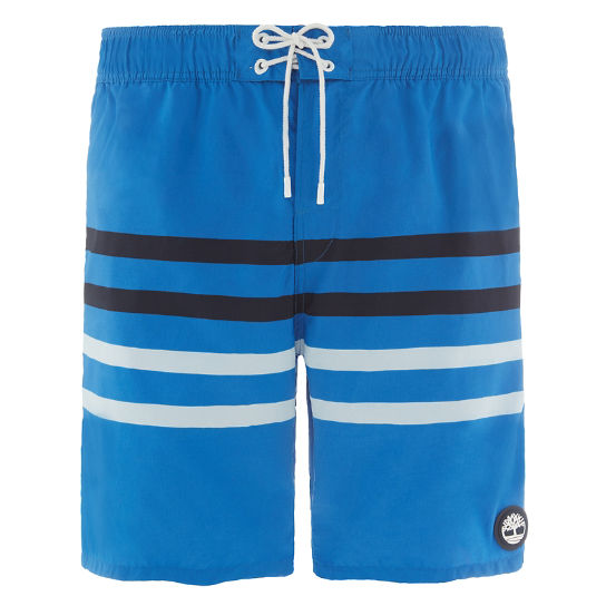 Sunapee Lake Stripe Swim Shorts Blauw Heren | Timberland