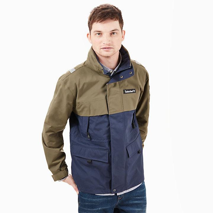 Waterproof Jack voor Heren in Marineblauw/groen-