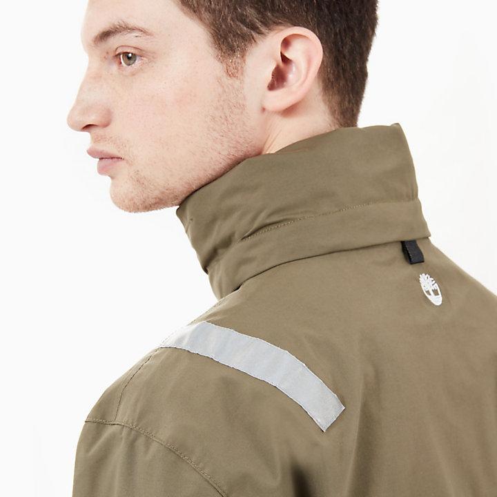 Veste imperméable pour homme en bleu marine/vert-