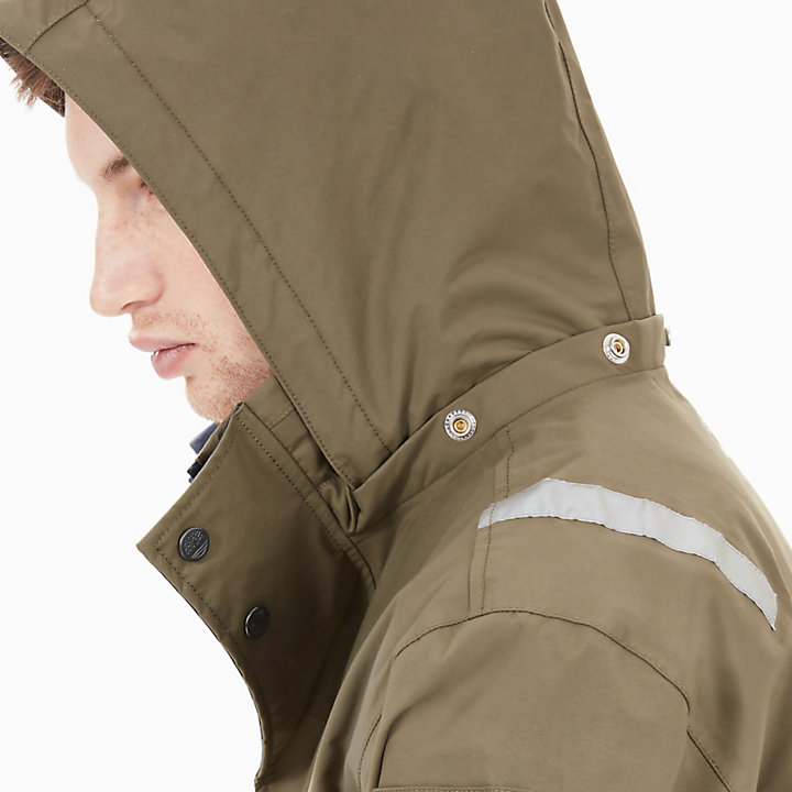 Waterproof Jacket for Men in Navy/Green-