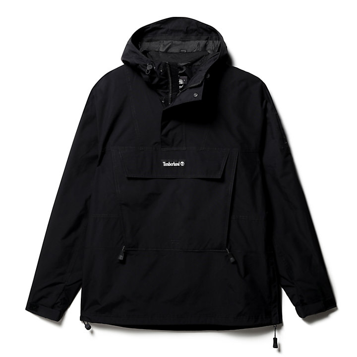 Patch Logo Hoodie for Men in Black-