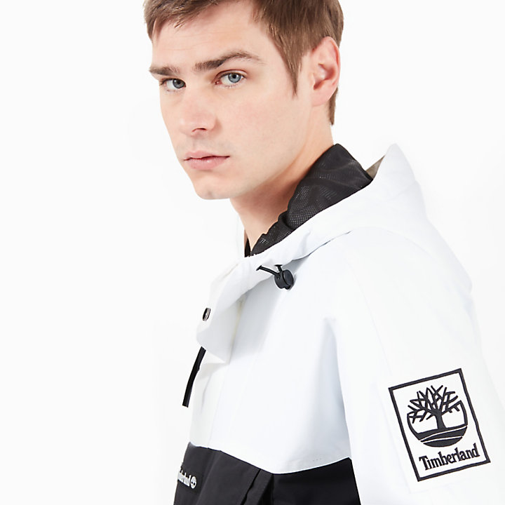 Sweat à capuche avec écusson logo pour homme en noir/blanc-