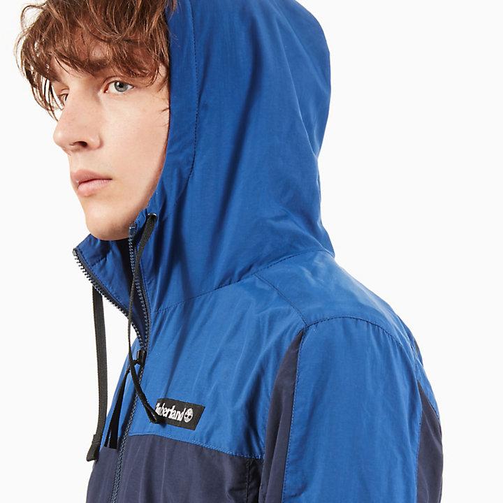 Zipped Windbreaker voor Heren in Marineblauw/blauw-