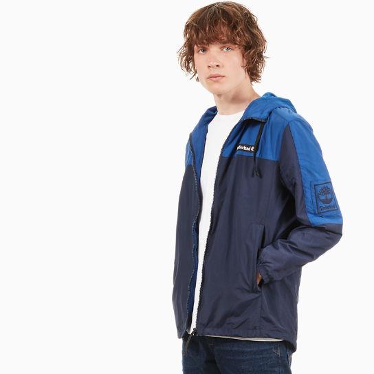 Giacca a Vento da Uomo con Zip Blu Marino Blu  3b4fcf120d3