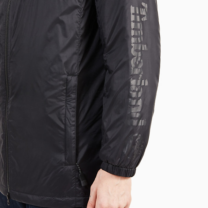 Insulated Coat for Men in Black-