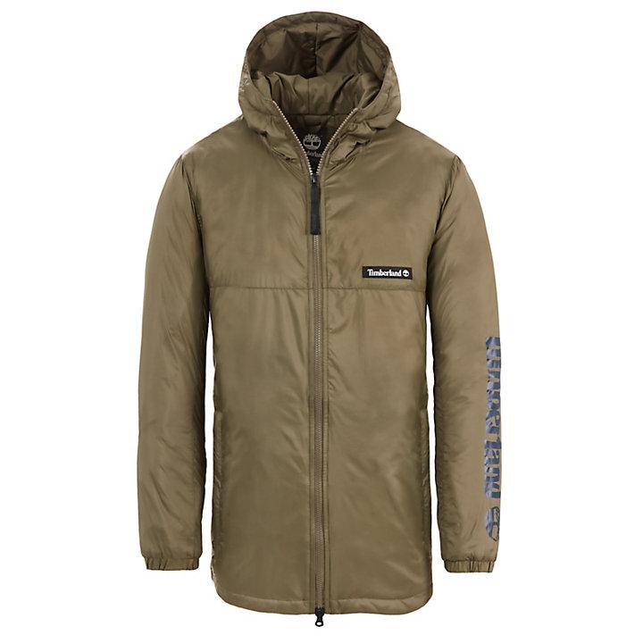 Insulated Coat for Men in Green-