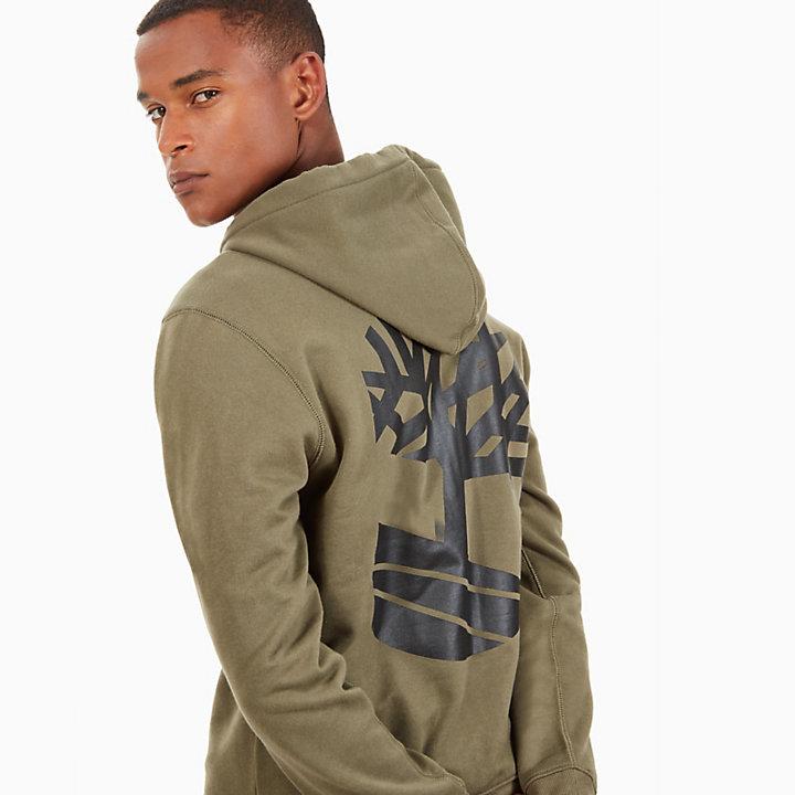 Zipped Hoodie for Men in Green-