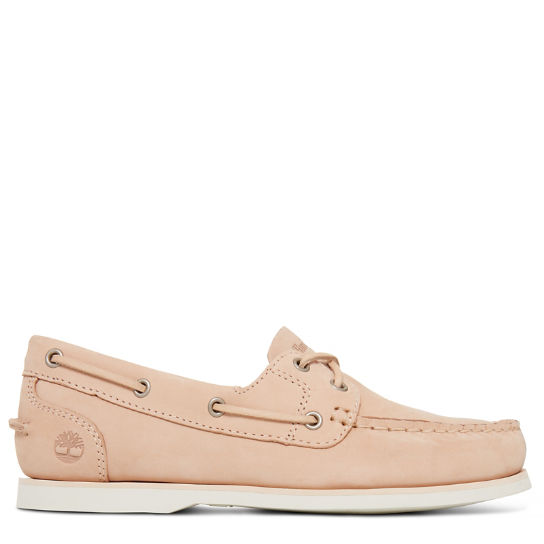 Classic Boat Shoe Femme Beige | Timberland