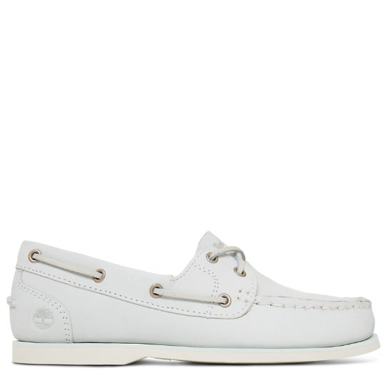 Classic Boat Shoe Wit Dames | Timberland