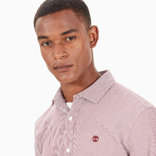 Wellfleet Striped Shirt for Men in Red | Timberland