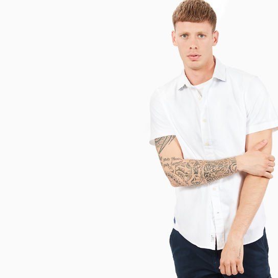 Chemise Oxford Milford pour homme en blanc | Timberland