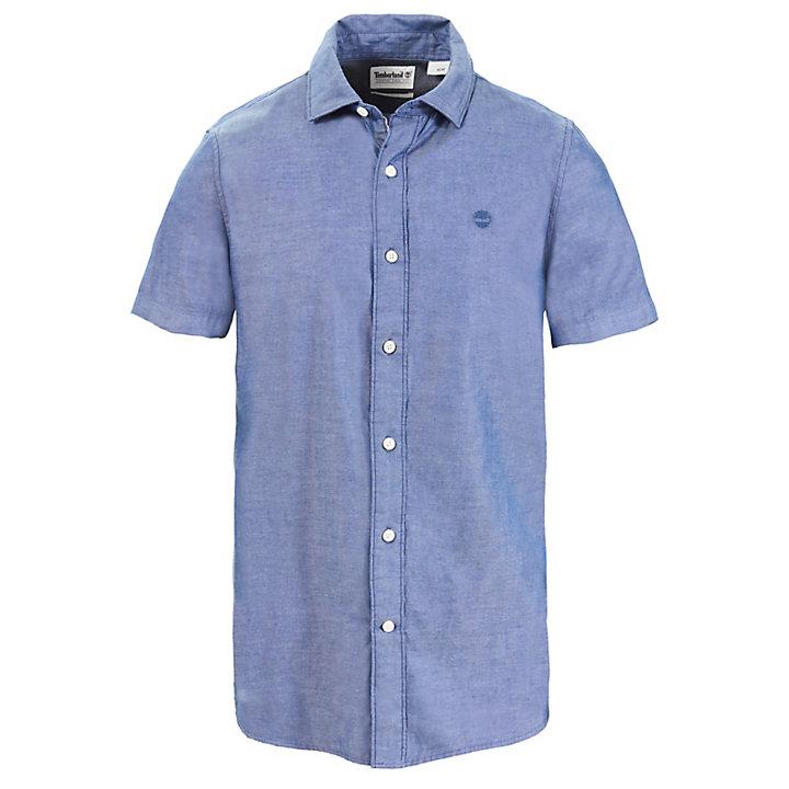 Kariertes Milford Oxfordhemd für Herren in Blau-
