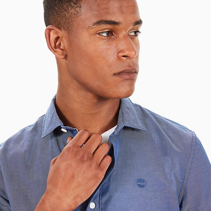 Camisa Oxford a Cuadros Milford para Hombre en Azul-