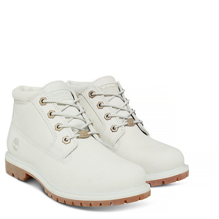Damen Nellie Waterproof Chukka Weiß-