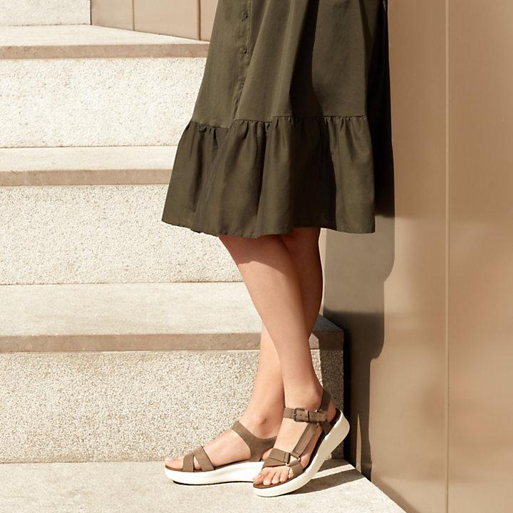 Damen Los Angeles Wind Sporty Sandal Greige-