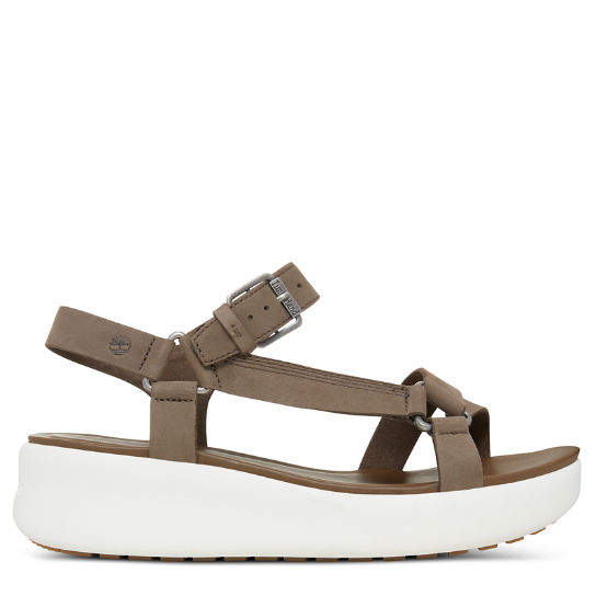 Damen Los Angeles Wind Sporty Sandal Greige | Timberland