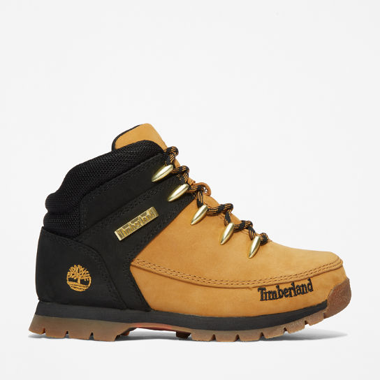 Euro Sprint Mid Hiker for Junior in Yellow/Black | Timberland
