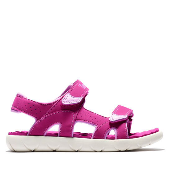 Perkins Row Strappy Sandal for Youth in Pink | Timberland