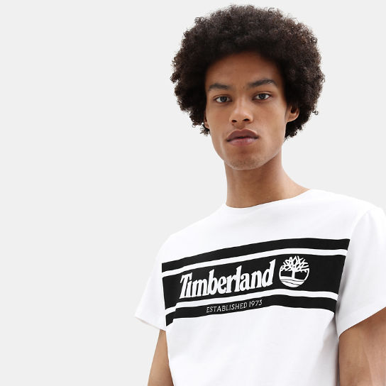 Timberland® Tree T-Shirt for Men in White | Timberland