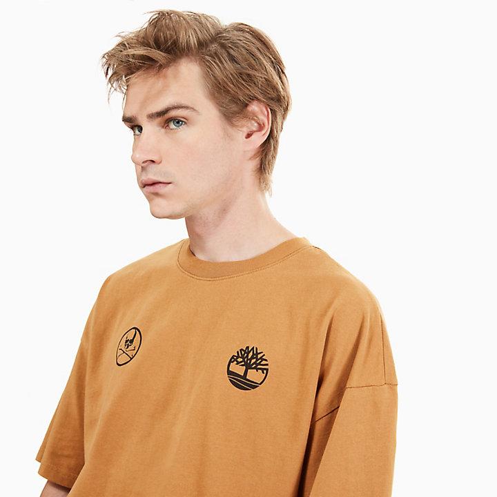 Timberland® x mastermind LS Herren-T-Shirt in Gelb-
