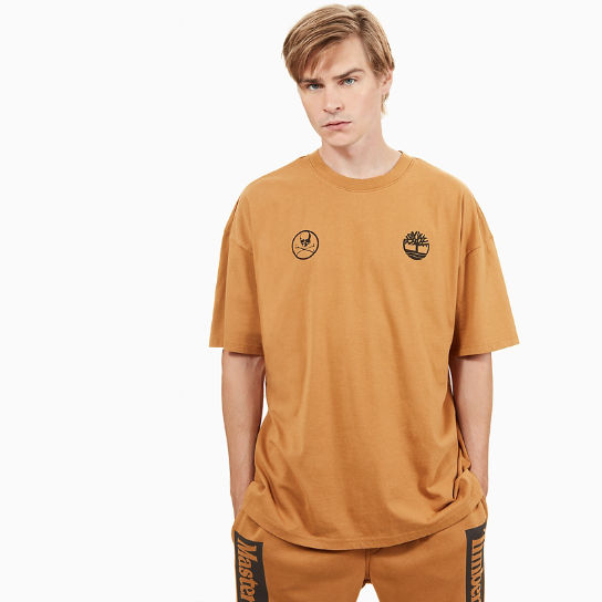 T-shirt Timberland® x mastermind pour homme en jaune | Timberland