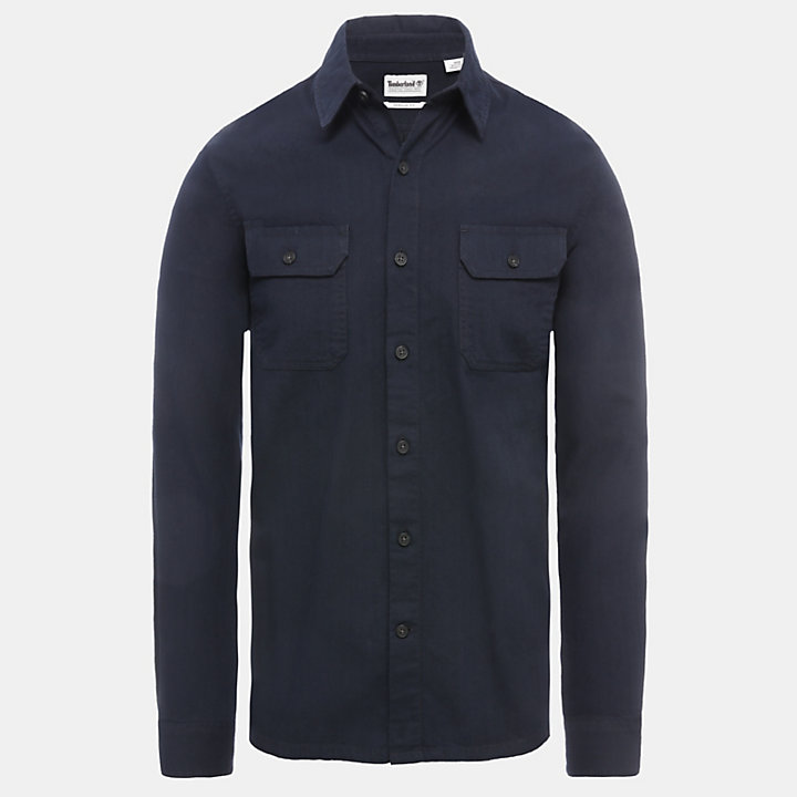 Chemise cargo Turkey River pour homme en bleu marine-