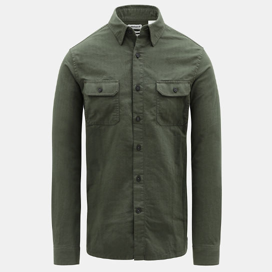 Turkey River Cargo Shirt for Men in Green | Timberland