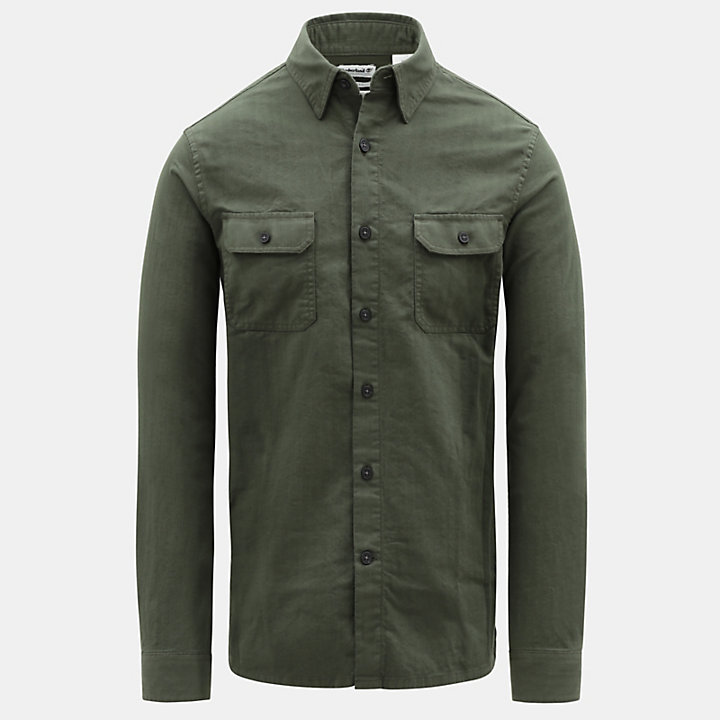 Turkey River Cargo Shirt for Men in Green-
