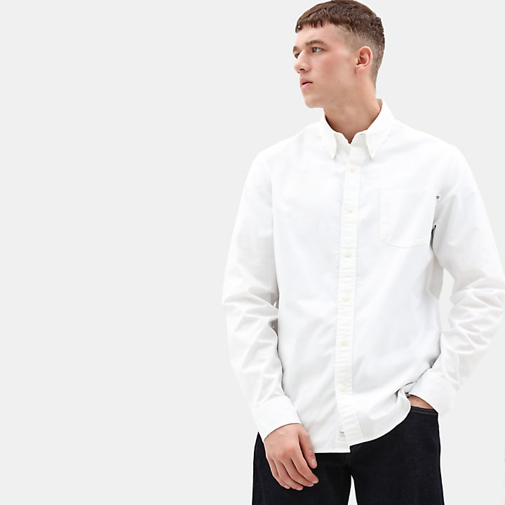 Pleasant River Oxford Shirt for Men in White-